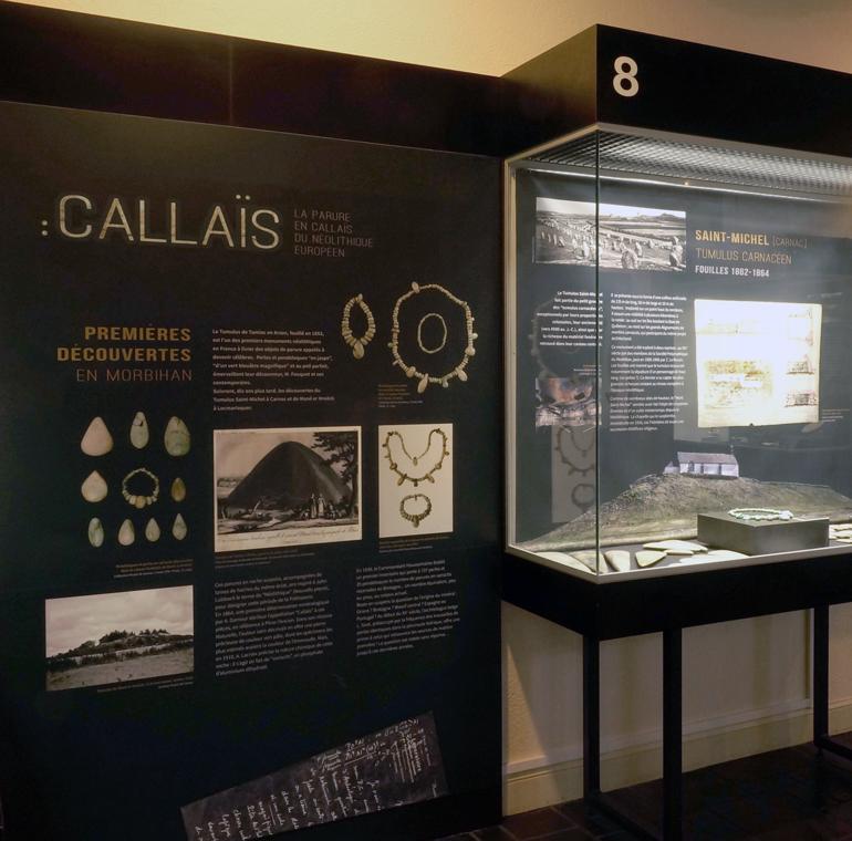Exposition Callaïs au Musée de la préhistoire