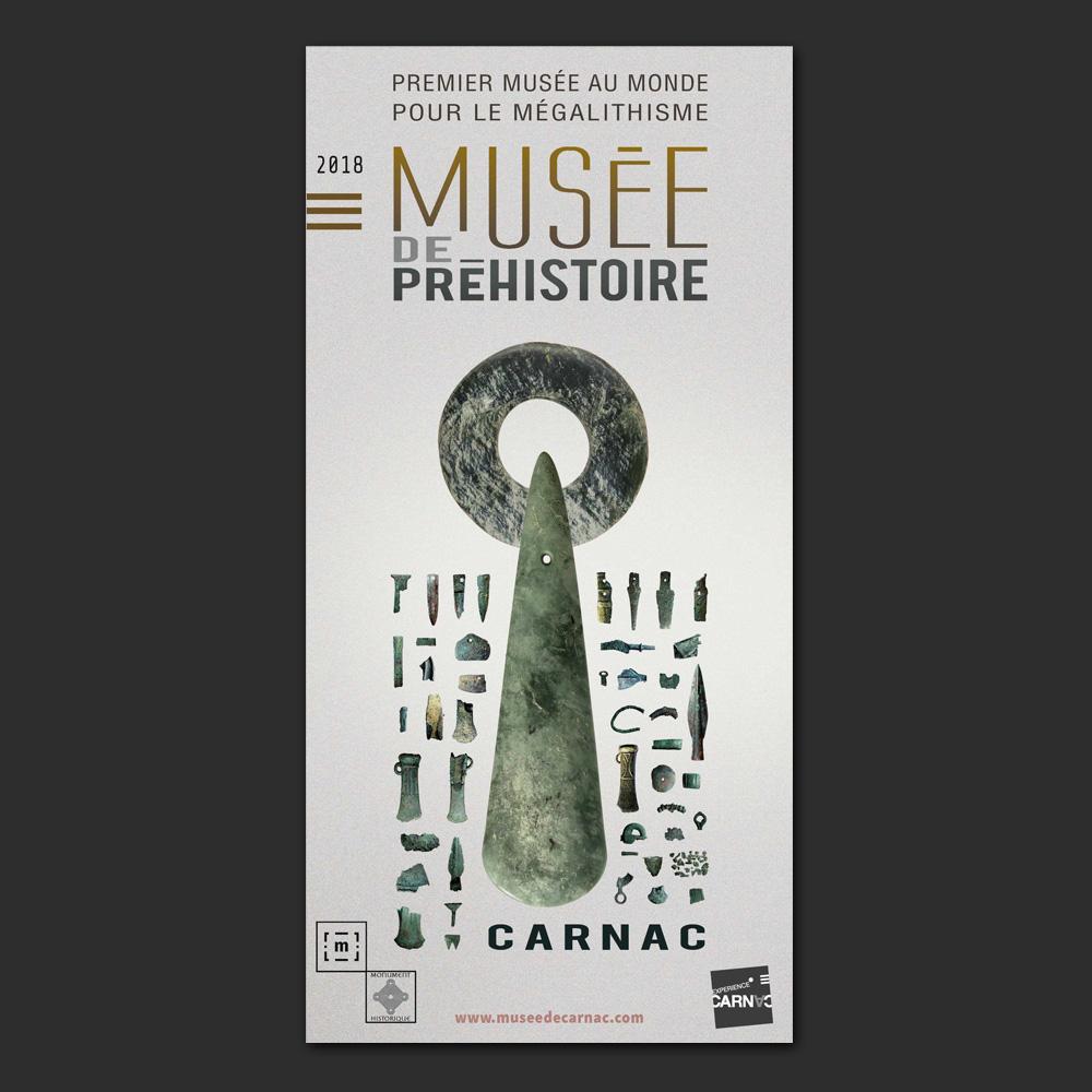 Dépliant 2018 du Musée de Préhistoire - Carnac