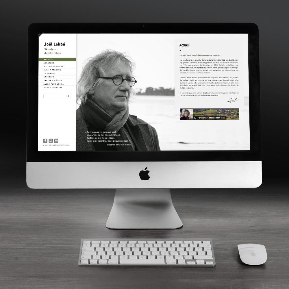Conception du site web du Joël Labbé sénateur