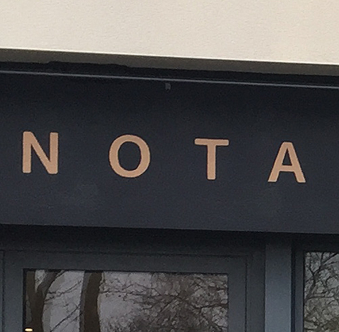 signalétique office notarial Wautier