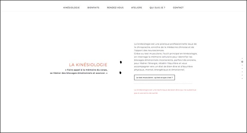 Site web - Blandine Thomas kinésiologue - Morbihan, Vannes (56)