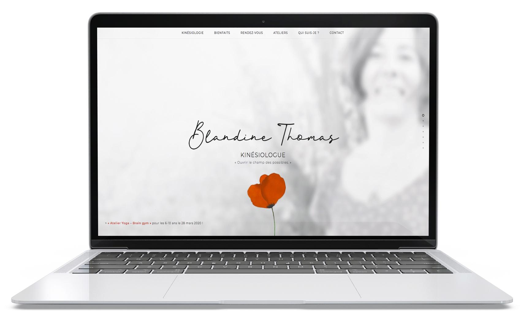 Page d'accueil, site web de Blandine Thomas kinésiologue à Vannes (56)