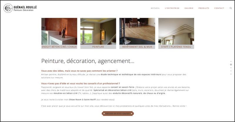 Site web de Gwénaël Rouillé, artisan peintre à Saint-Nolff (56)