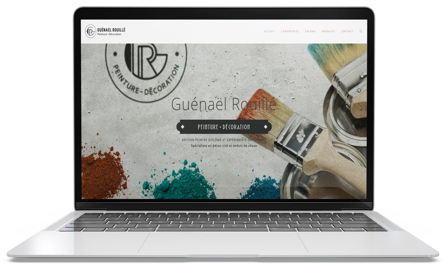 Page d'accueil, site web de Gwénaël Rouillé peintre à Saint-Nolff (56)