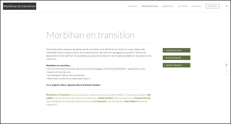 Site web de l'association Morbihan en Transition (56)